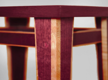 Superbe Purpleheart Wood Furniture